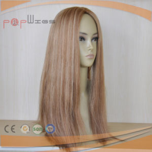 Full Human Omber Color Hair Skin Top Women Wig pictures & photos