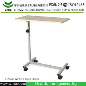 Wooden Dining Board Adjustable Hospital Bed Table with Drawer pictures & photos