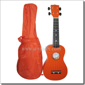 Wholesale Linden Plywood Colorful 21 Inch Soprano Ukulele (AU01H) pictures & photos