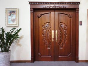 Natural Wooden Door (RA-N007) pictures & photos