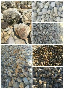 Natural Stone 654 Tumble Paving Stone Driveway Dark Grey Cobblestone pictures & photos