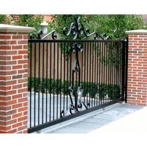 Sz-G001 Elegant Galvanized Wrought Iron Gate pictures & photos