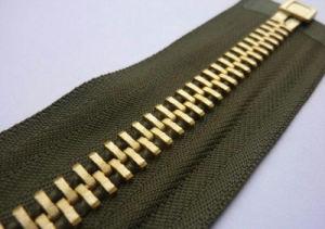 Custom Metal Zipper Gold Teeth pictures & photos