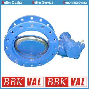 Double Eccentric Double Flange Butterfly Valve Wras Approved pictures & photos