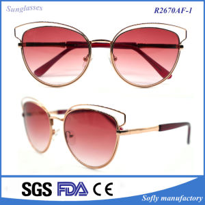 Fashion Sunglass Designer Polarized Metal Cat Eye Sunglasses pictures & photos