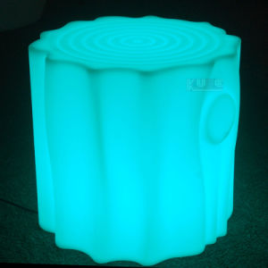 Illuminated Round Stool Glowing Patio Furniture pictures & photos