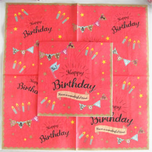 Birthday Party Decoration Paper Napkins pictures & photos