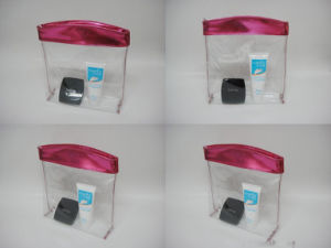 Eco-Friendly Clear Zipper PVC Cosmetic Bag pictures & photos