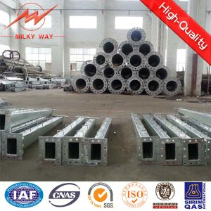 Q345 Galvanized Steel Octagonal Electric Pole pictures & photos