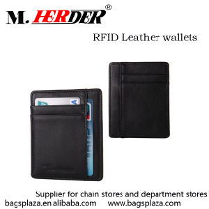 High Quality Leather RFID Blocking Wallet Credit Card Holder
