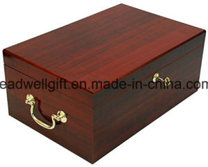 Wood Cigar Case Humidor with Handles 120 Cigars pictures & photos