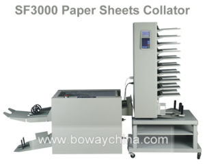 Ad Office Sf3000 Booklet Paper Sheets Collator Collating and Stitching System Machine pictures & photos