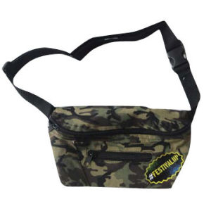 Camouflage Canvas Waist Bag with Zipper