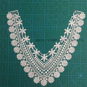 Fashion Embroidery White Textile Garment Cotton Lace Fabric Ribbon Collar pictures & photos