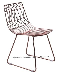 Modern Classic Metal Wire Dining Bend Side Wire Chair