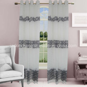 Jacquard Sheer Grommet Panel Window Curtain (HR14WT142) pictures & photos