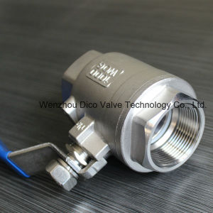 Ts Stainless Steel Thread 2PC Ball Valve pictures & photos