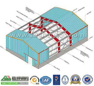 Industrial Metal Frame Construction Building pictures & photos