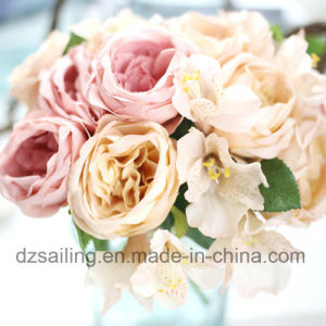 High Quality Royal Rose Bouquet Artificial Flower for Decoration (SF15232)