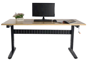 Steel Manual Adjustable Height Computer Table (LDG-0202R) pictures & photos