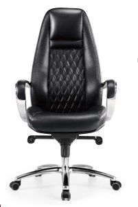 Office Chair -Fast Selling Cow Leather Chair Aluminium Alloy Chair Swivel Chair pictures & photos