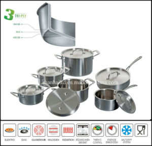 Stainless Steel Cookware Set 3 Ply Body Kitchenware pictures & photos