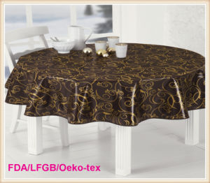 PVC Printed Tablecloth on Rolls China Factory pictures & photos