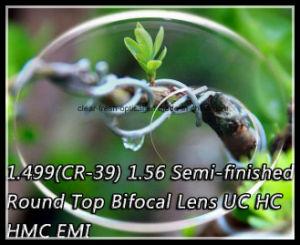 1.499 (CR-39) 1.56 Semi-Finished Round Top Bifocal Lens Uc Hc Hmc EMI pictures & photos