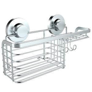 Super Suction Rust Proof Stainless Steel Shower Combo Basket