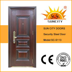 Heat Transfer Single-Leaf Security Steel Door (SC-S113) pictures & photos