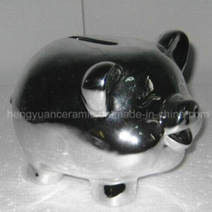 Ceramic Electroplating Piggy Bank for Home Decoration pictures & photos