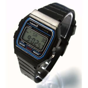 Eco-Friendly Waterproof Silicone Digital Wrist Watch pictures & photos