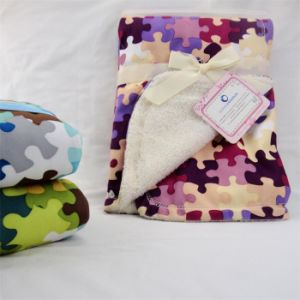 Baby Blanket -Soft Micro Mink with Sherpa-Camo Printing pictures & photos