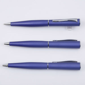 Quality Customized Metal Twist Pen with Logo for Gift Blue Tc-7015b