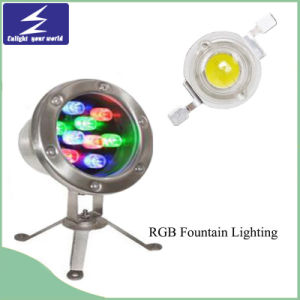 9W 12W DC12V 24V Colorful Underwater LED Fountain Lighting
