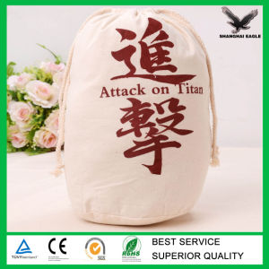 Custom Logo Printed Drawstring Cotton Bag Factory pictures & photos