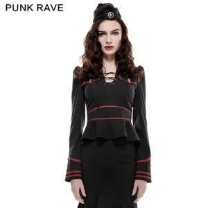 Y-661 Punk Latest Designs for Woman Softtextile Uniform Shirt pictures & photos