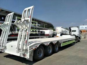 Excavator Transportation Gooseneck Low Bed Semi Trailer 3 Axles pictures & photos