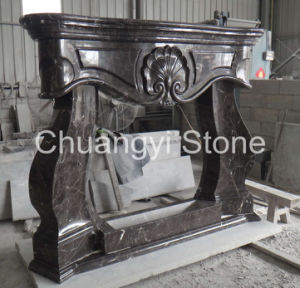 European Style Marble Fireplace Mantel for Interior Decoration