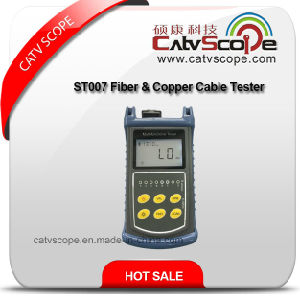 St007 Fiber & Copper Cable Tester/Optical Power Meter/Visual Fault Locator/Cable Tracking/Multi-Function Tester pictures & photos