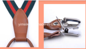 High Quality Genunine Leather Fittings Kids Suspender Clips pictures & photos