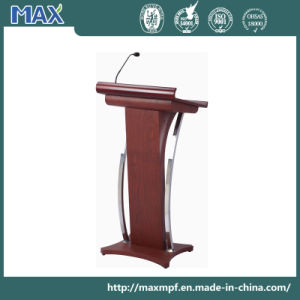 Wooden Pedestal Lectern with Microphone pictures & photos