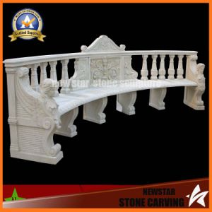 White Marble Carving Stone Bench for Garden Decoration (NS-11B3) pictures & photos