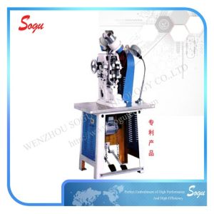 Wenzhou Popolar Automatic Double Side Eyeleting Machine for Leather Bags pictures & photos