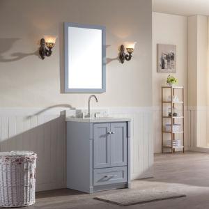 "25"" Single Sink Solid Wood Vanity Set in Grey pictures & photos"