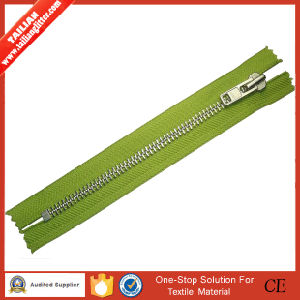 2016 Tailian Aluminium Zipper (nickel brass zipper) 3#, 4# 5#, 8#, 10# with Pipa Slider a/L O/E, C/E pictures & photos