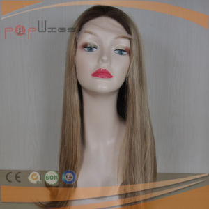 Human Hair Hand Tied Blonde Lace Front Women Wig pictures & photos