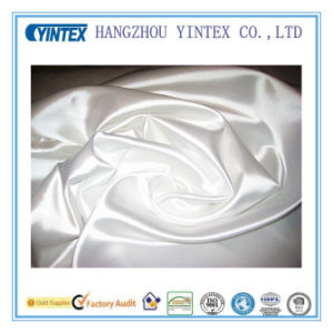 Pure White 100% Polyester Satin Fabric for Home Textiltes pictures & photos