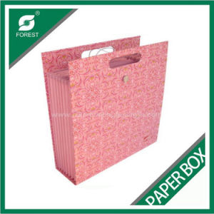 Fancy Pink Paper Shopping Bag with Handle pictures & photos