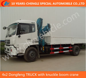 4X2 Dongfeng Truck with Knuckle Boom Crane pictures & photos